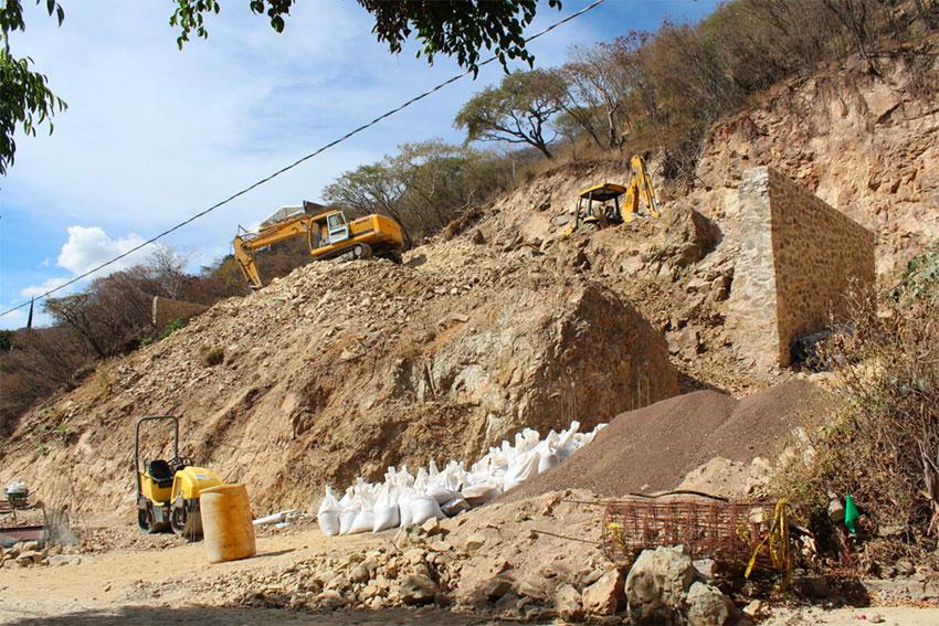 Construction at Villa Nova, Ajijic, a few months ago.