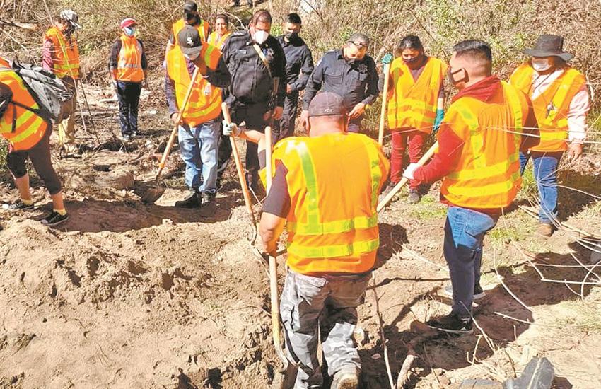 search brigade in Tecate, BC