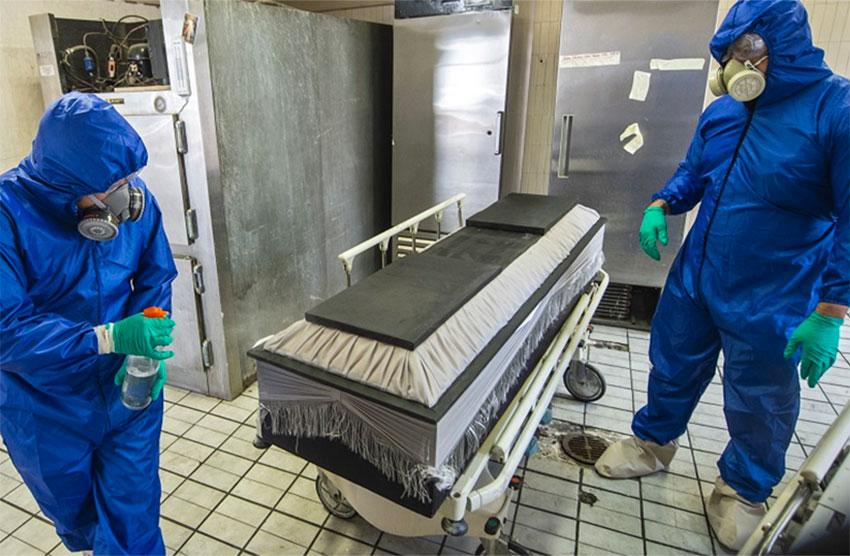 covid coffin