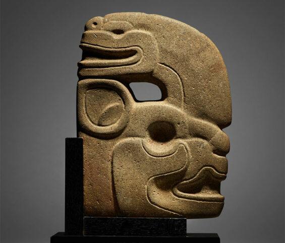 Maya stone carving