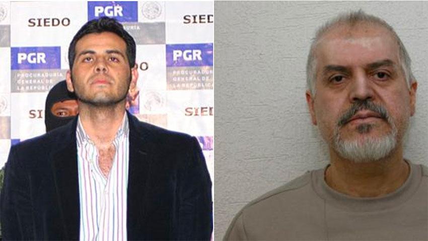 Vicente Zambada of the Sinaloa Cartel, left, and Eduardo Arellano of the Tijuana Cartel.