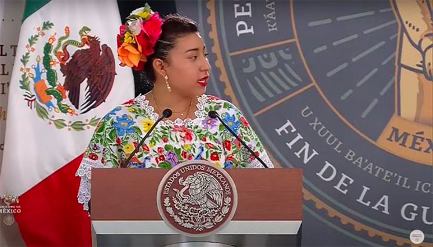 Maya spokeswoman Dzib Poot