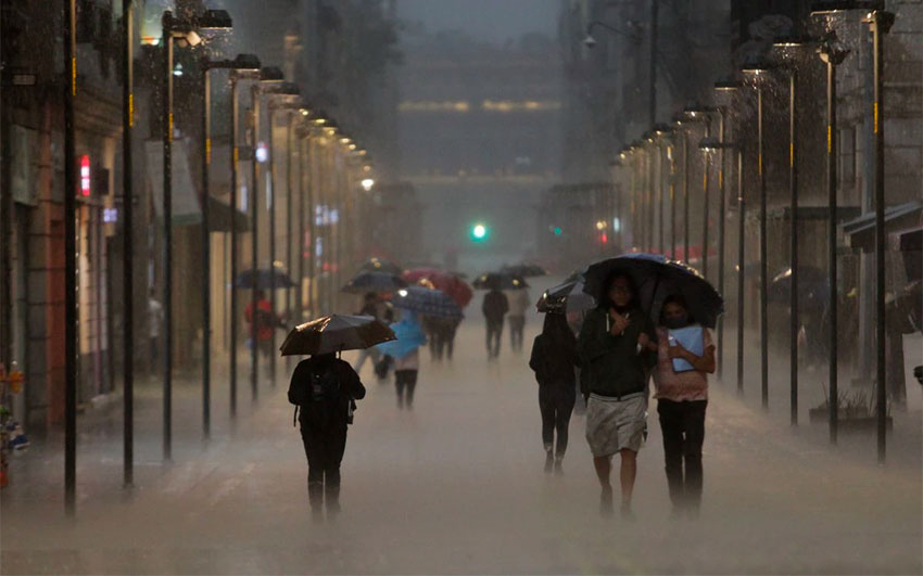 Heavy rains have brought relief in Mexico City.
