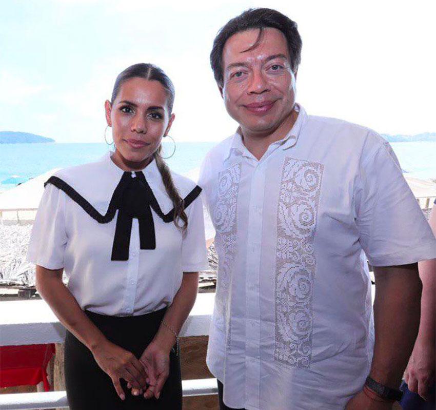 Evelyn Salgado and Morena party director Mario Delgado