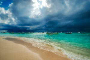 Stormy weather near Playa del Carmen