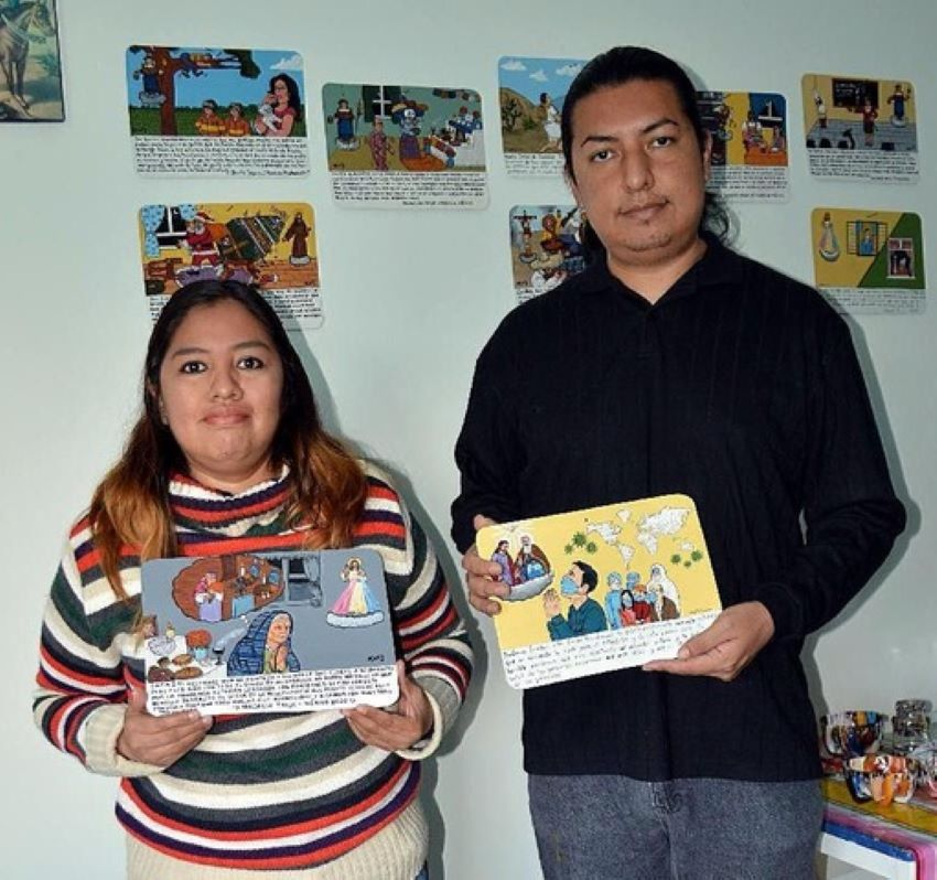 The artists: Flor Palomares and her husband Gonzalo Palacios.