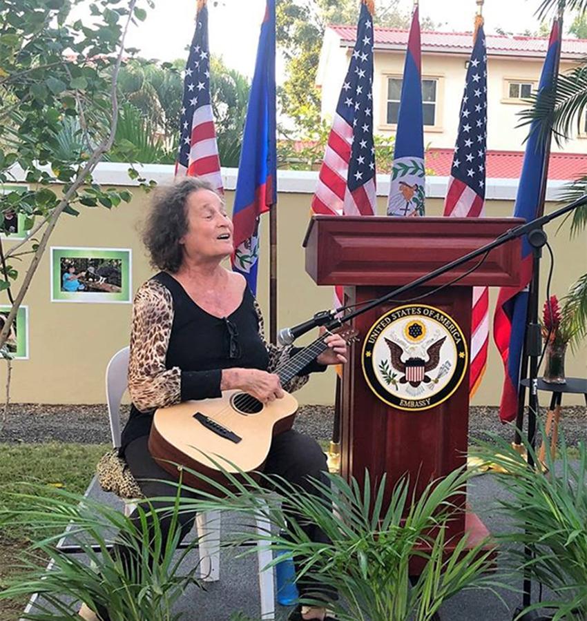 Sharon Matola at US Embassy in Belize