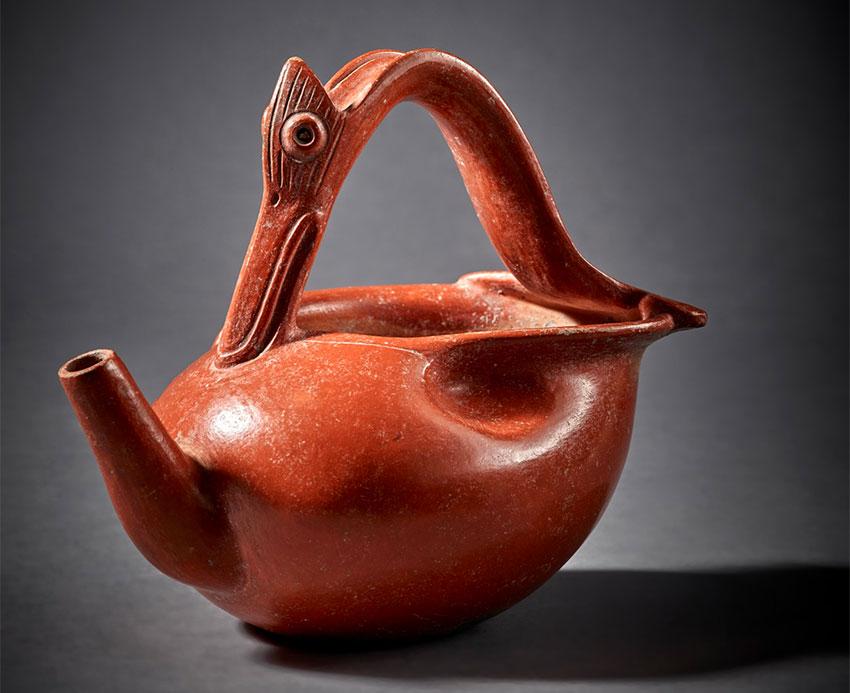 Maya orangeware vessel