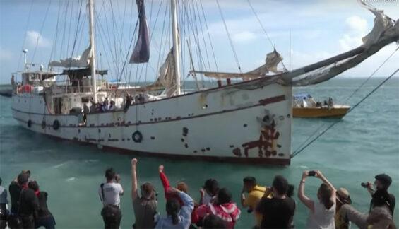 Zapatistas begin their trans-Atlantic voyage.