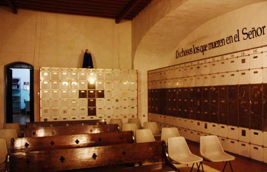 Depositary for urns at the San José de Gracia Church in Querétaro city.