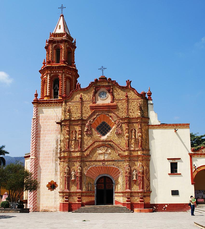 Mission church in Jalpan de Serra, Querétaro
