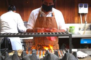 Chef Alam Méndez at Pasillo de Humo, Mexico City