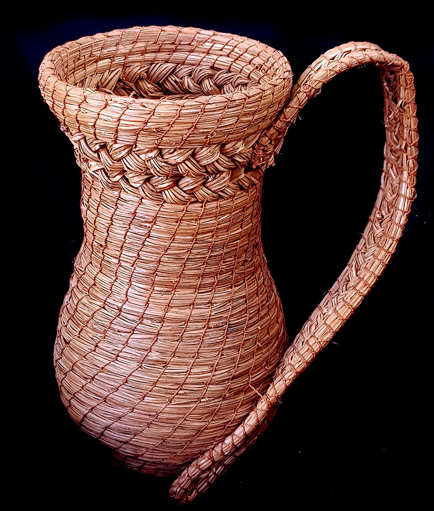 Pine needle pitcher by Mexican craftsman Marina Bañuelos