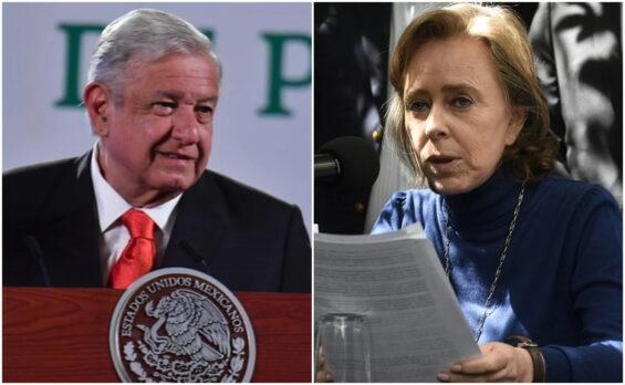President Lopez Obrador, Mexicans Against Corruption and Impunity head Maria Amparo Casar