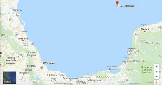 Isla Bermeja on Google Maps