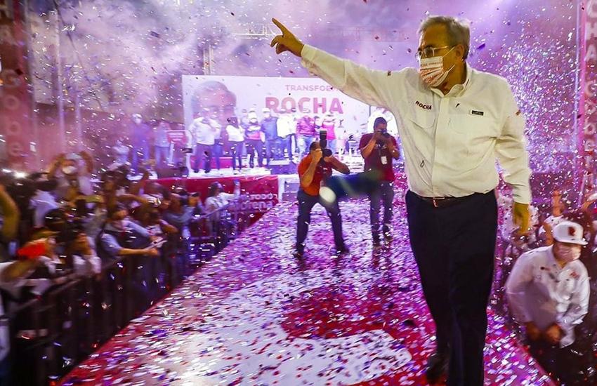 Morena candidate and governor-elect of Sinaloa Ruben Rocha
