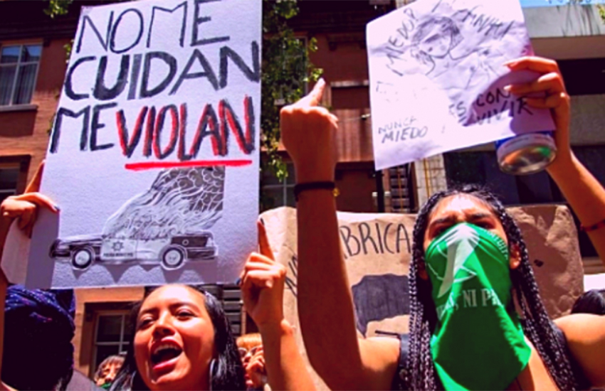 Women's protest in CDMX 2019