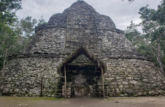 Xaibé pyramid at the Maya ruins of Coba