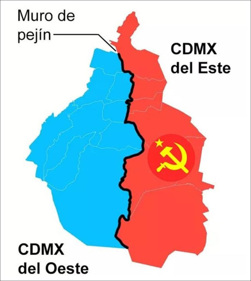 meme comparing Soviet-era Berlin to Mexico City