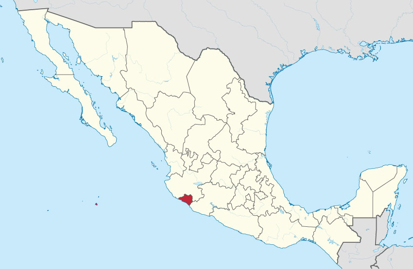 Colima is Mexico's fourth smallest state.