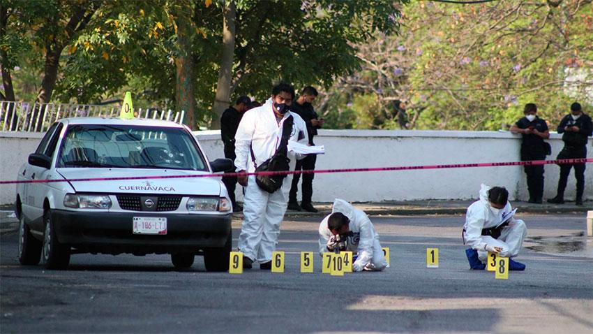 A crime scene in Morelos.