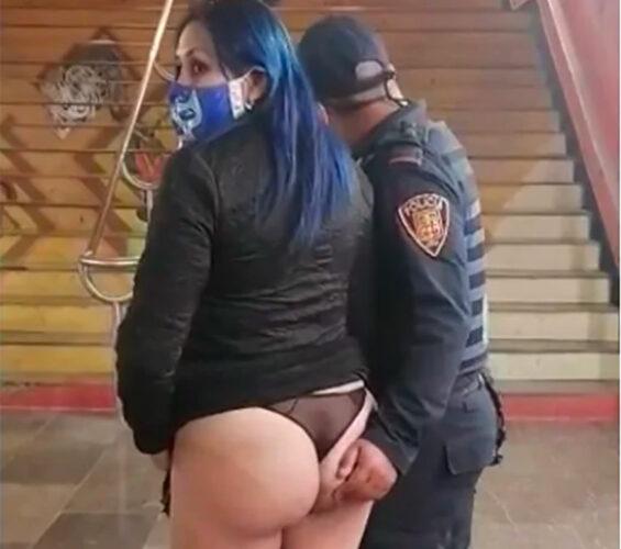 The cop's grope in the Metro.