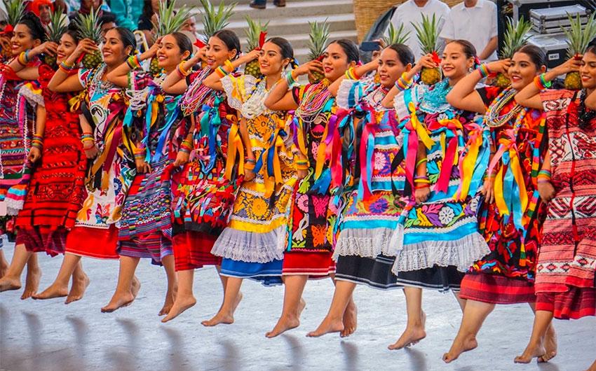 Dancers at Oaxaca's world famous Guelaguetza.
