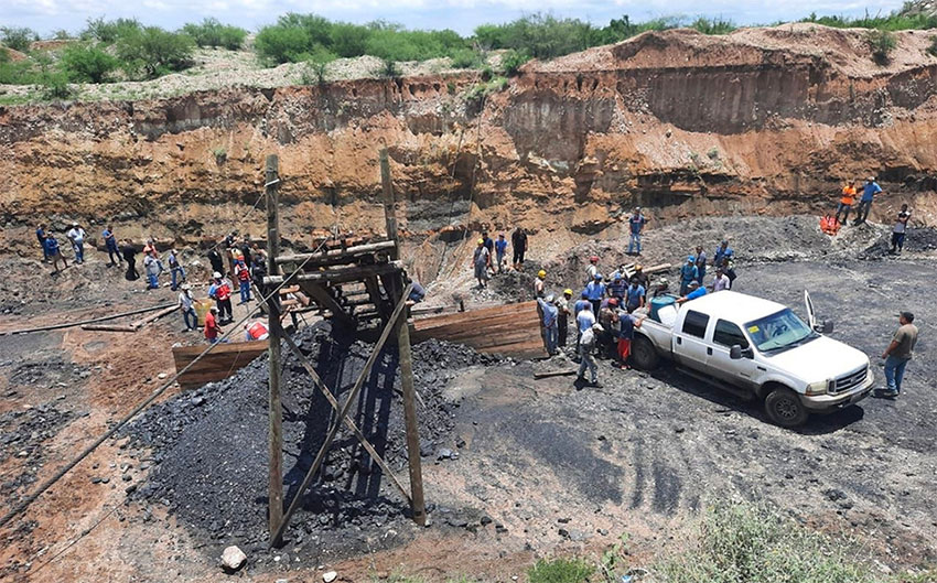 The Coahuila coal mine where six miners are missing.