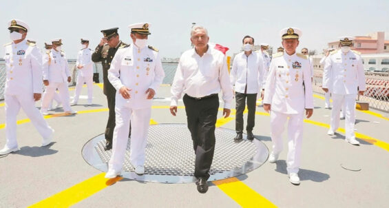 AMLO with navy