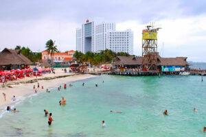 Playa Tortugas, scene of Friday's shooting.