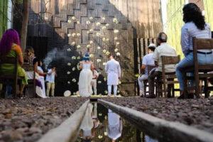 small Zapotec wedding ceremony in Oaxaca