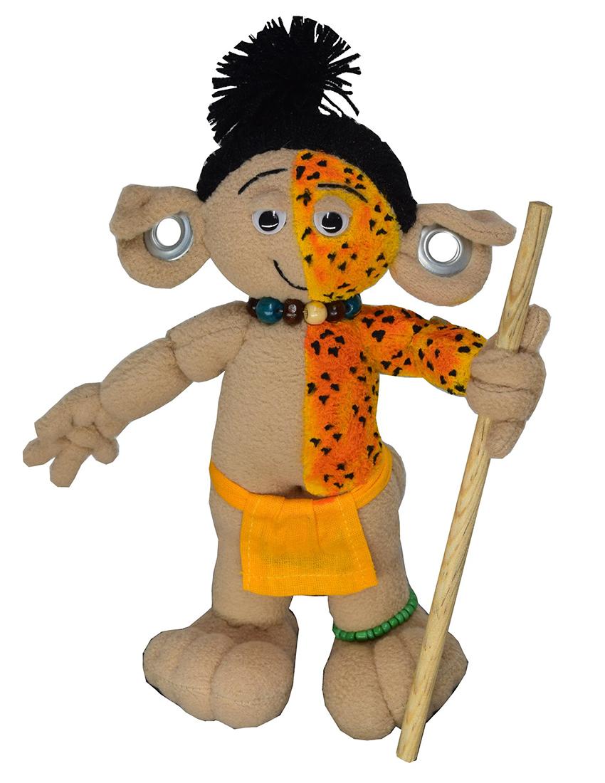 Alux doll depicting a jaguar warrior