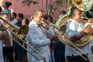 Brass band, Oaxaca, Mexico
