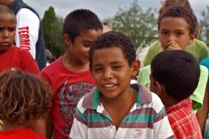 Children in El Nacimiento, Coahuila