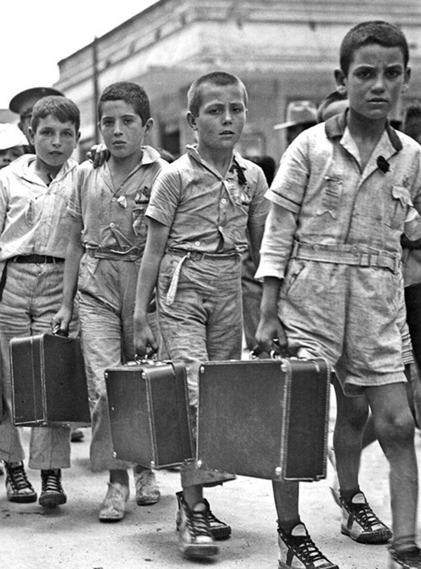 Niños refugiados no acompañados de España llegan a Veracruz en 1937
