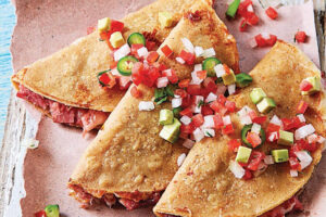 Smoked marlin quesadillas