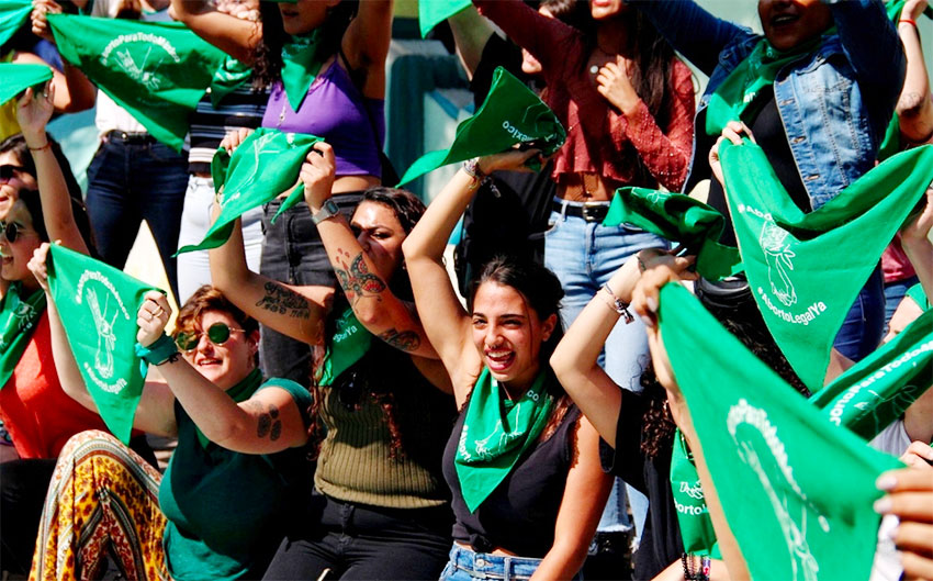 Supporters of decriminalization celebrate the vote in Veracruz.
