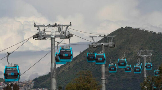 Mexico City's busy cable car system.