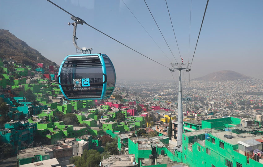 The capital's new cable car system.