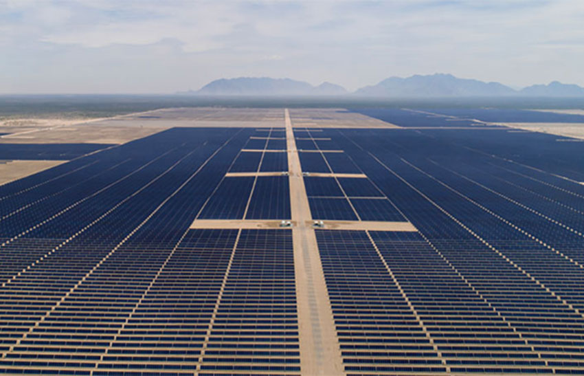 Enel's solar farm in Coahuila, currently the largest in Mexico.
