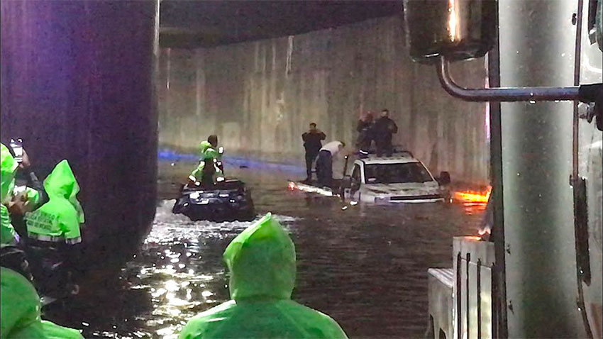 Atizapán floods.