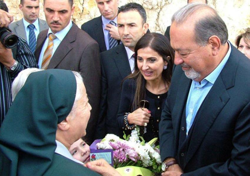 Carlos Slim en el Líbano 2010