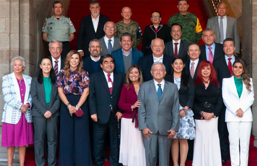 Morena governors and governors-to-be met with the president and senior officials