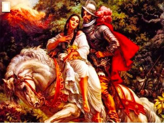 La Malinche and Cortés