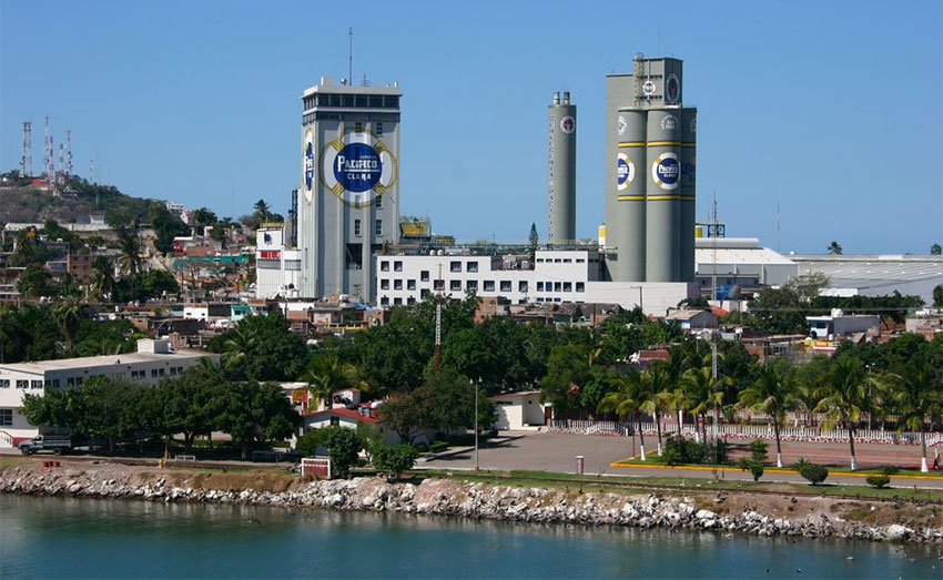 The Pacífico brewery in Mazatlán.