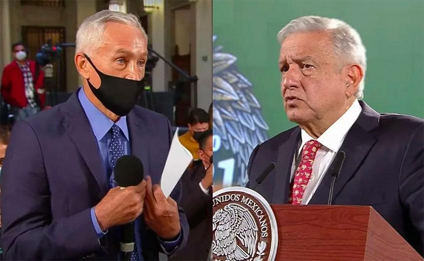 Jorge Ramos and President López Obrador