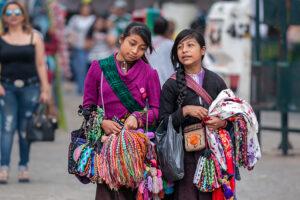 Street vendors in San Cristobal de las Casas