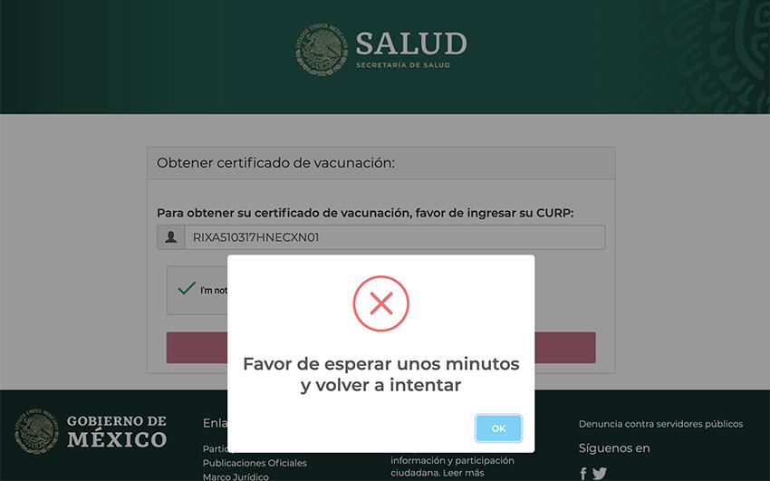 vaccination certificate website