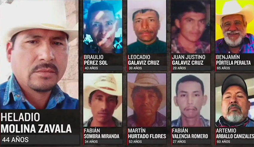 Nine of the 10 men missing since July 14 in Sonora.