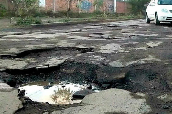 Potholes in Mexico City